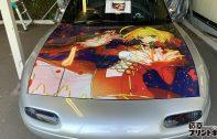 Fさま出力+デザイン+施工依頼-Mazda:ロードスターにて赤セイバー仕様